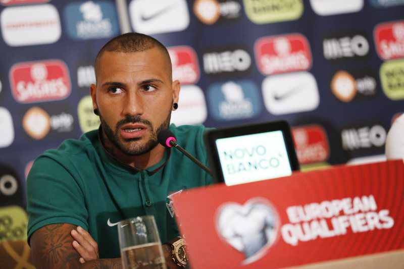Portugal press conference • epa04916362 Portuguese national team player Ricardo Quaresma during a press conference in Tirana, Albania, 06 September 2015. Portugal will face Albania in the UEFA EURO 2016 qualifying soccer match in Elbasan Arena in Elbasan, Albania on 07 September 2015.  EPA/ARMANDO BABANI • Lusa
