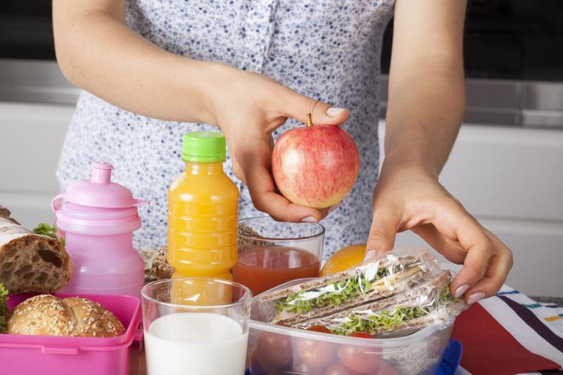 Healthy meal for a child prepared by mum