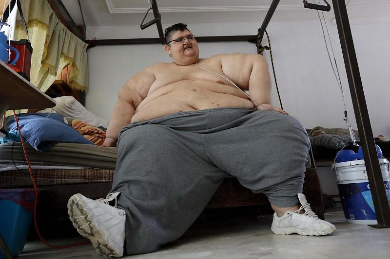 Mexicano que já foi o homem mais gordo do mundo sonha em voltar a andar