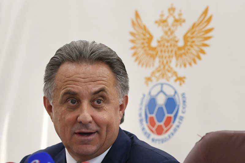 the Executive Committee meeting of the Russian Football Union • epa05437983 Russian Sports Minister Vitaly Mutko speaks during press conference after the Executive Committee meeting of the Russian Football Union in Moscow, Russia, 23 July  2016.  EPA/YURI KOCHETKOV • Lusa
