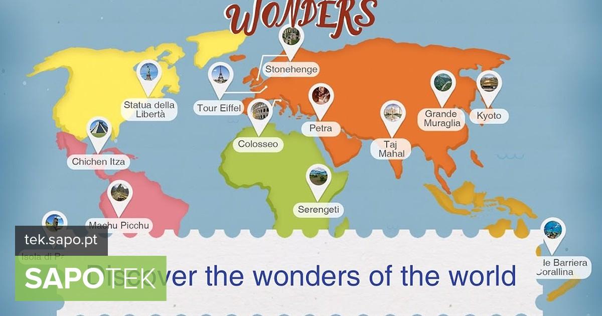 Wonders: uma app para descobrir maravilhas escondidas em todo o mundo