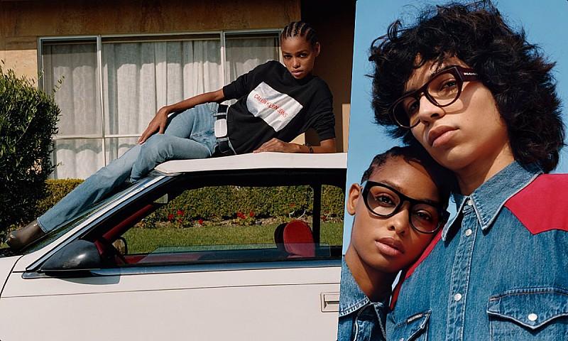 Angolana Blésnya Minher volta a brilhar para a marca Calvin Klein