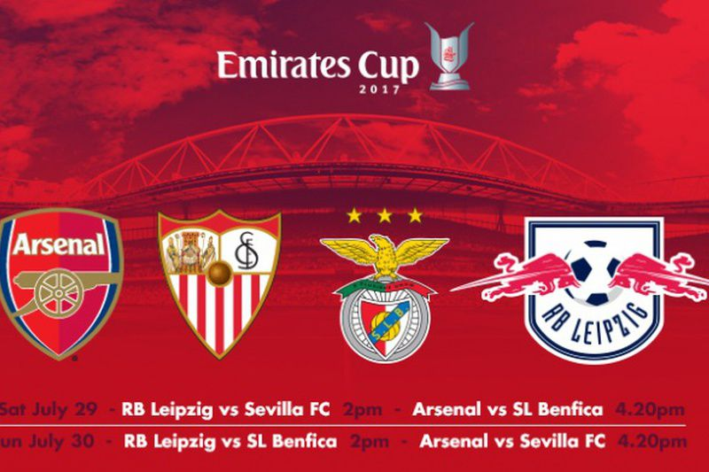 Cartaz da Emirates CUp • Facebook Arsenal