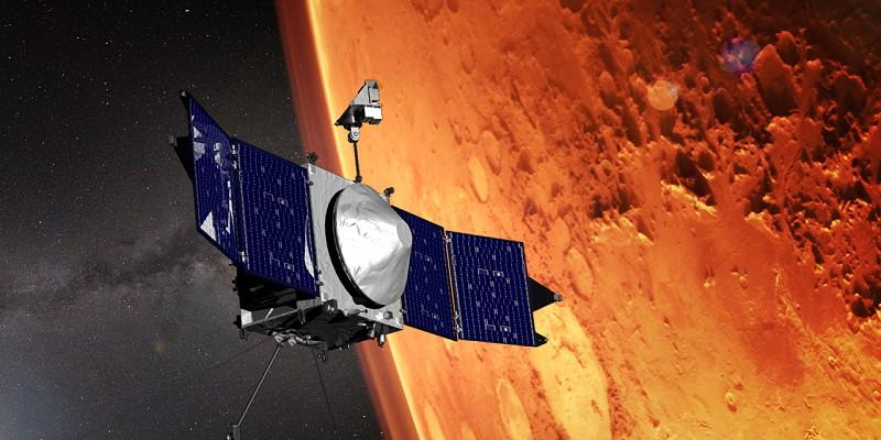 Satélite Maven da NASA está cada vez mais perto do solo de Marte