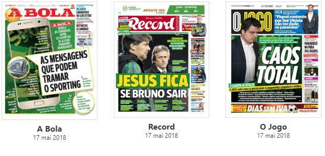 Revista de imprensa: Crise no Sporting domina as manchetes