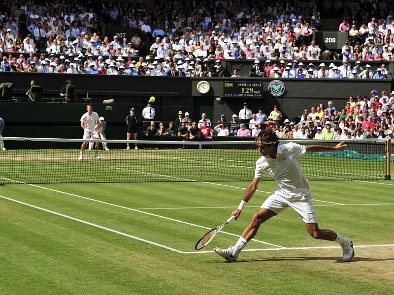 557612b256f Federer mais perto de Murray  às portas  de Wimbledon - Ténis - SAPO ...