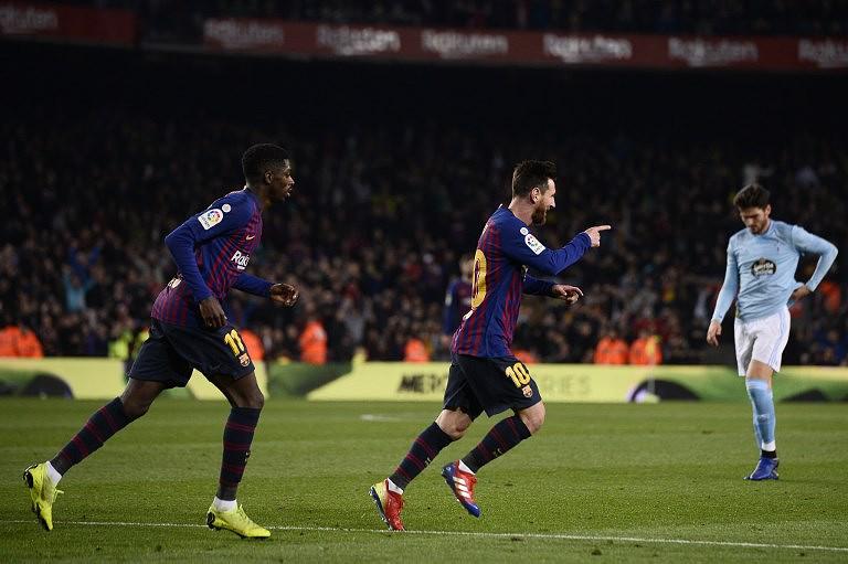 7e81add042 FC Barcelona vence Celta de Vigo e lidera com três pontos para o Atlético  de Madrid
