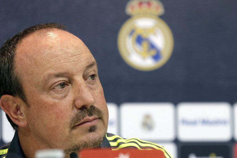 c627c6f31861da930703d87457f8d4757a50c34b.jpg • epa04991174 Real Madrid's coach, Rafa Benitez, offers a press conference at the Sports City of Valdebebas in Madrid, Spain, before the team's training on 23 October 2015. Real Madrid will be facing Celta de Vigo on a primrea division liga match next 24 October 2015.  EPA/ZIPI