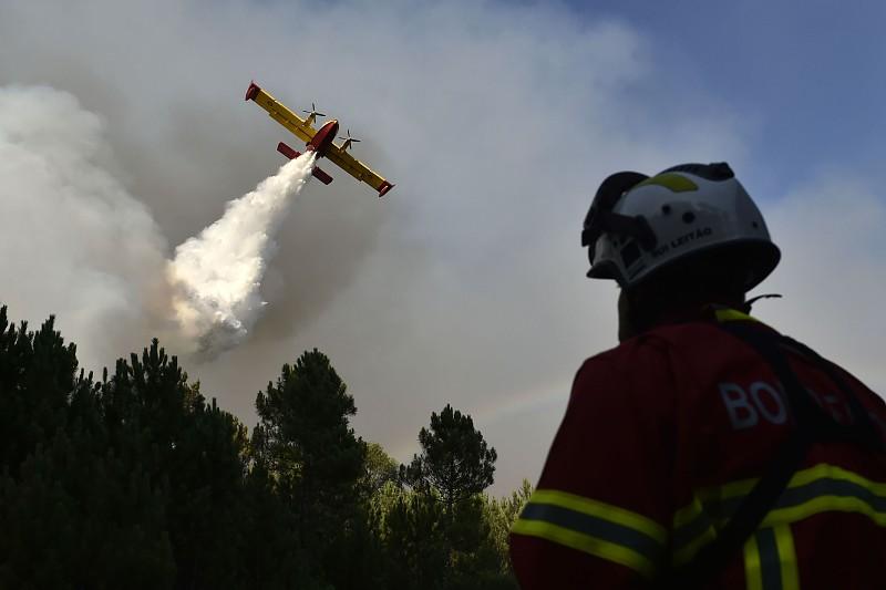 Incêndios: Amaragem de avião que combatia fogo em Tomar provocou apenas danos materiais - SAPO 24