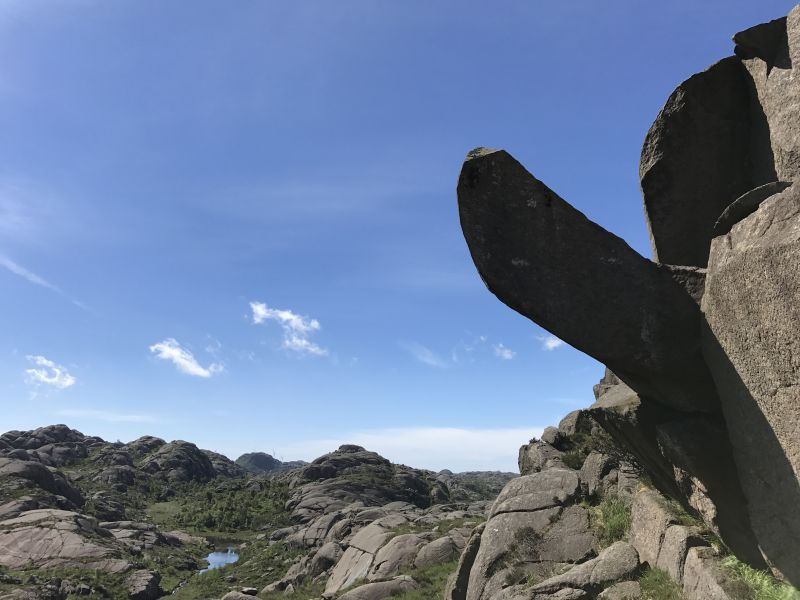 "Picture taken on June 17, 2017 shows the Trollpikken rock formation in Egersund, western Norway, before it has been vandalised. Norwegians have come out en masse to raise nearly 20,000 euros to repair an eye-catching penis-shaped rock formation apparently knocked down by vandals, an online collection showed on June 27, 2017. / AFP PHOTO / NTB Scanpix / Inge AALBU / Norway OUT / ""The erroneous mention appearing in the metadata of this photo by Inge AALBU has been modified in AFP systems in the following manner: [Trollpikken] instead of [Trollpicken]. Please immediately remove the erroneous mentionfrom all your online services and delete it  from your servers. If you have been authorized by AFP to distribute it to third parties, please ensure that the same actions are carried out by them. Failure to promptly comply with these instructions will entail liability on your part for any continued or post notification usage. Therefore we thank you very much for all your attention and prompt action. We are sorry for the inconvenience this notification may cause and remain at your disposal for any further information you may require."""