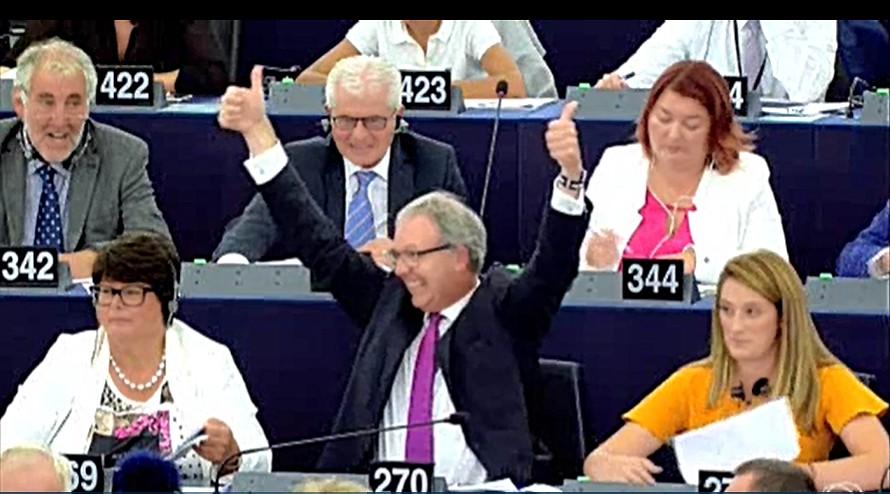 Axel Voss celebra a aprovação da diretiva