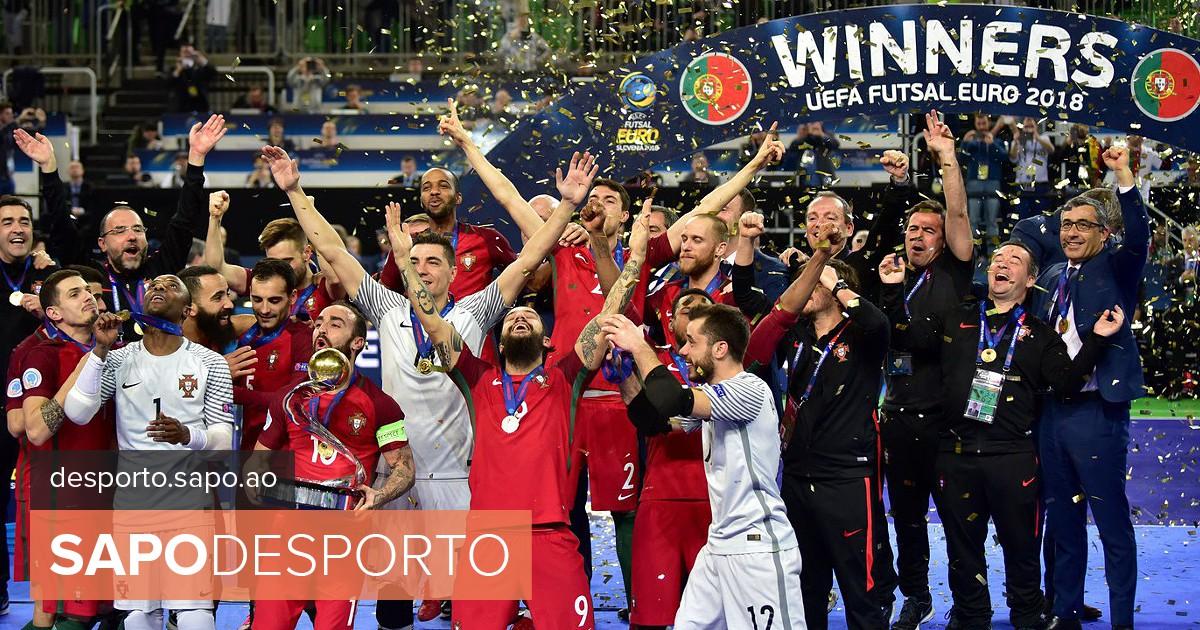 Ainda se lembra do dia em que fomos campeões europeus de futsal  Já passou  um ano - Futsal - SAPO Desporto 98ded1c647df9
