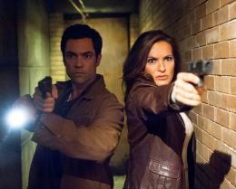 LAW & ORDER: SPECIAL VICTIMS UNIT --  Episode 1405 -- Pictured: (l-r) Danny Pino as Detective Nick Amaro, Mariska Hargitay as Det. Olivia Benson -- (Photo by: Michael Parmelee/NBC)