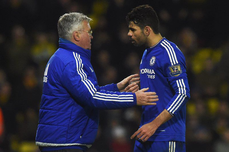 Guus Hiddink e Diego Costa • WILL OLIVER / EPA