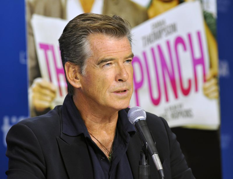 epa03864592 Irish actor and cast member Pierce Brosnan attends the press conference for 'The Love Punch' during the 38th annual Toronto Film Festival, in Toronto, Canada, 12 September 2013. The festival runs until 15 September.  EPA/WARREN TODA
