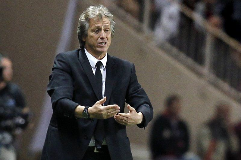 AS Monaco vs Benfica Lisbon • epa04458680 Benfica Lisbon's Portuguese head coach Jorge Jesus reacts during the UEFA Champions League group C soccer match between AS Monaco and Benfica Lisbon, at Stade Louis II, in Monaco, 22 October 2014.  EPA/SEBASTIEN NOGIER