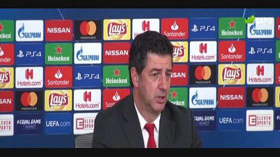 Rui Vitória analisou em conferência de imprensa a vitória sobre o AEK. 6507f31ed0249