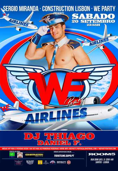 We Party Airlines - Construction Lisbon