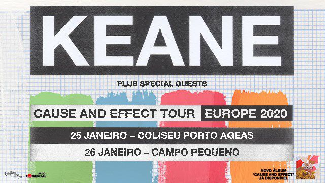 KEANE - CAUSE AND EFFECT TOUR - EUROPE 2020