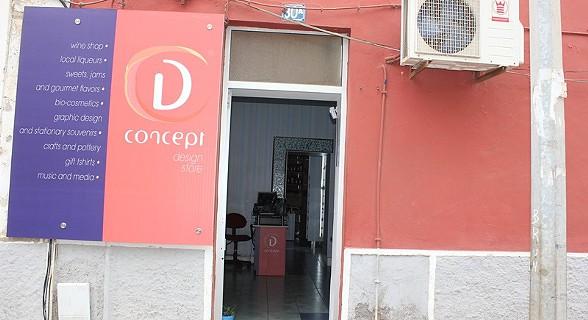 A Loja D. Concept Design Store fica situada no Plateau