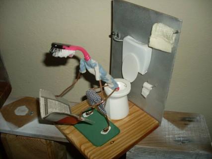 Arte com escova de dentes