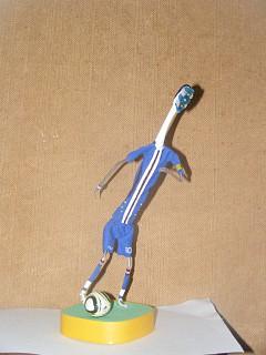 Arte com escova de dentes - Jogador