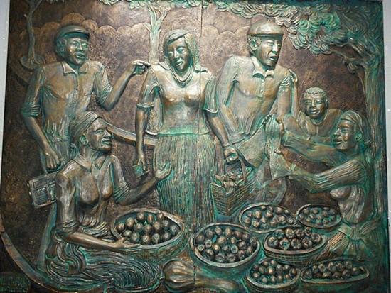 Painel que retrata a cultura de Cabo Verde
