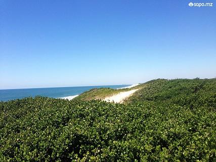 No início do Verão a praia ainda está vazia e sente-se a tranquilidade em vários cantos.