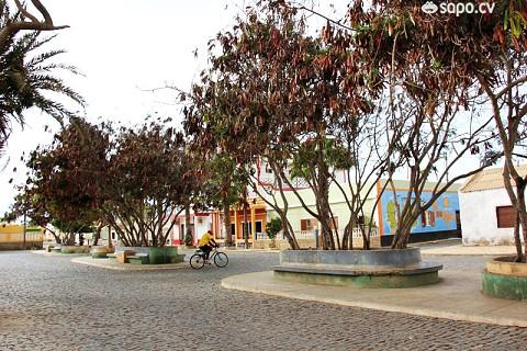 A praça de Palmeira.