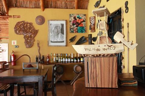 Pormenores de decoração no restaurante (SAPO MZ/ Eliana Silva)