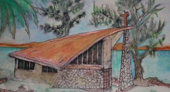Luís Azevedo pintou a Igreja