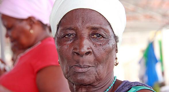 Agostinha, uma das vendedeiras mais antigas