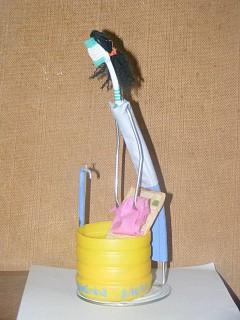 Arte com escova de dentes - Lides domésticas