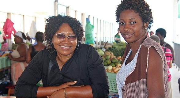 Comerciantes do mercado do Plateau