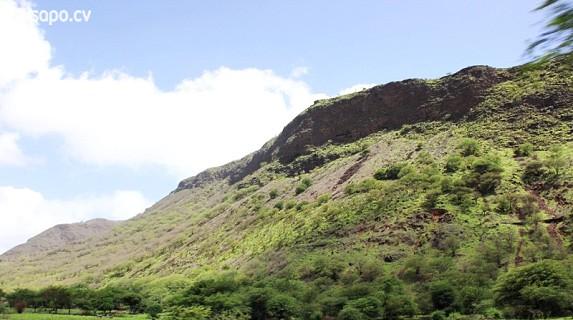 As montanhas ficam verdes