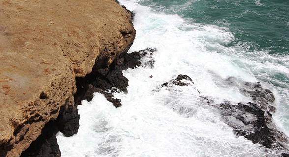 O mar junto ao farol
