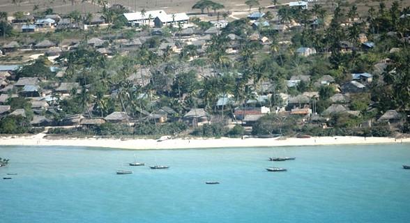 Sobrevoando a ilha do Ibo