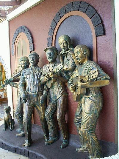 Painel em homenagem aos músicos da Boa Vista