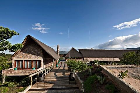 Recepção do Pululukwa Resort