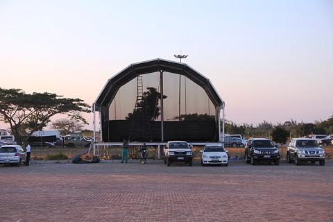 O recinto que vai receber espectáculos como o de Liloca este final de semana. SAPO MZ/ Eliana Silva