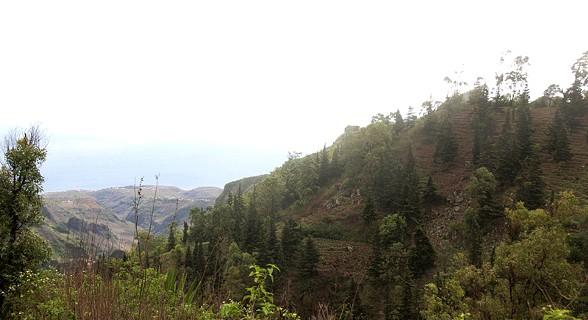 Vista da Serra Malagueta, ao fundo costa de Santiago
