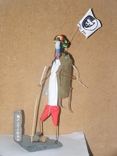 Arte com escova de dentes - Campista