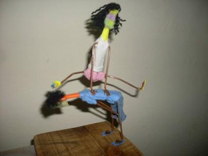 Arte com escova de dentes - Brincando
