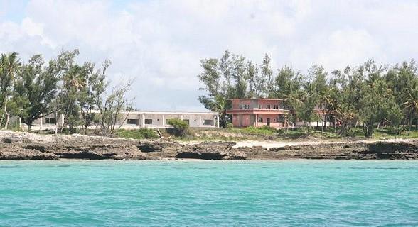 A imagem da ilha ao chegar