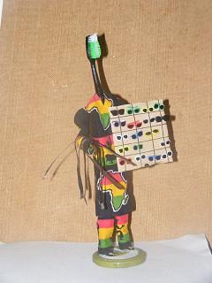 Arte com escova de dentes - Vendedor ambulante