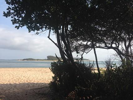 A Ponta de Santa Maria tem este nome por baptimo que Cristovão Colombo deu quando visitou a baía em 1492