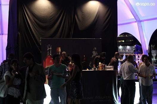 Zona de bebidas da área VIP