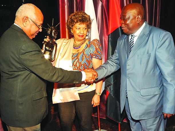 Conferência na Liga Africana amizade Angola-Cuba