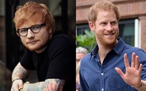 Príncipe Harry e Ed Sheeran juntos pela saúde mental