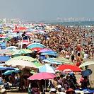 Praia lotada em Valência